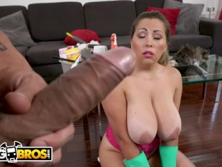 Preview 2 of BANGBROS - Busty Latina Maid Alessandra Gets Railed By Bruno