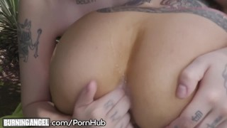 And charlotte outside and angel joanna shower assplay goth pussy burningangel