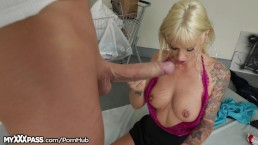 MyXXXPass Tatted Barbie Sucks Hobo's Big Dick