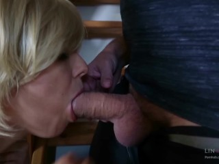 Preview 1 of Step-mom stuck force fucked, get anal sex and cum in mouth by step-son