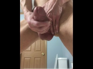 Super Fat Cock Sprays Cum