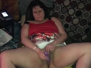 Horny slut squirts multiple times while masturbating