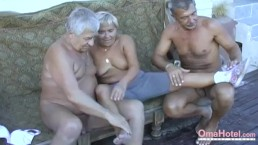 OmaHoteL Hot Grandma Enjoying Sexual Life