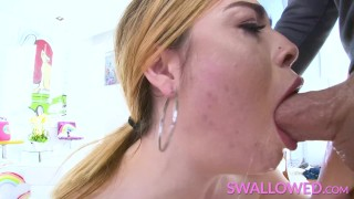 SWALLOWED Bubble butt babes face fucked hard