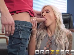 Brazzers - Office milf Nina Elle loves anal