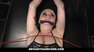Preview 2 of DeviantHardcore - Submissive Whore Veruca James Fucked In The Ass