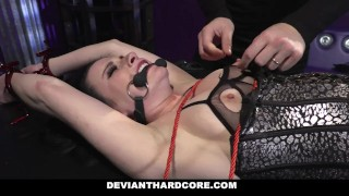 Preview 4 of DeviantHardcore - Submissive Whore Veruca James Fucked In The Ass
