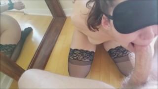 No Hands Deep Throat  Amateur Bondage Blow Job Hand Cuffed Teen Slut