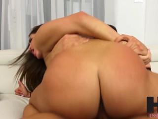 Hussie Auditions: Sexy Curved Brunette Mila Marx Get Fucked by Big Dick