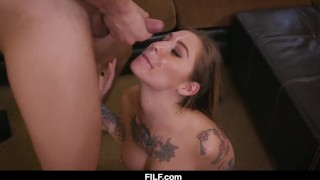 Valentien fuck teaches kleio woman stepmom stepson a her to how throat sex