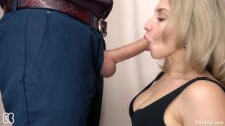Secretary Suck Big Cock and Swallows Cum, 4K (Ultra HD) Kriss Kiss