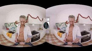 VirtualRealGay.com - Merry XXXmas Masturbating smooth