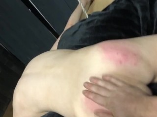 She mael porn stupid slut back for harder spanking spanking ass slap fetish kink bds