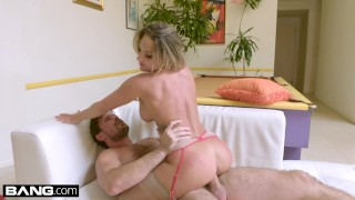 BANG Gonzo - Blonde nympho Cali Carter gets her pussy stretched Young fishnets