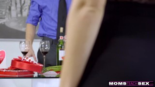 MomsTeachSex - Mom And StepSons Romantic Valentines Day Fuck S7:E7