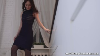 Preview 1 of Young Courtesans - Molly Quinn - Magic night with a courtesan