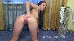 Sunny Bush masturbates on her carpet