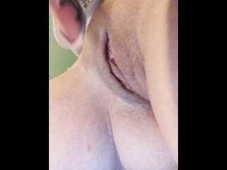 Closeup of my orgasm