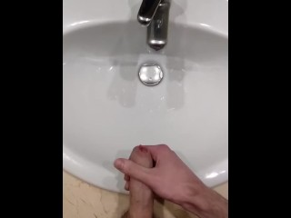 Sneaky wank & cum in shared hotel room