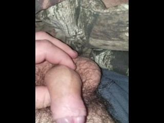 Uncut soft cock play