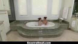 ExxxtraSmall - Wet Tiny Teens Play With Massive Cock
