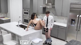 SpyFam Step mom Ava Addams fucks broken hearted step son on valentines day