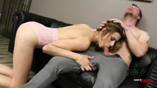 Casey Kisses Deepthroats and Takes Hot Cum Facial