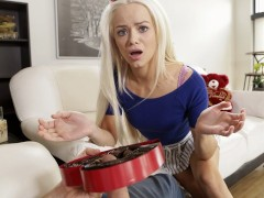 Bratty Sis - Little Step Sister Falls For Brothers Valentines Day Surprise