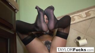 Extra black taylor in hot looks vixen stockings taylorvixen feet
