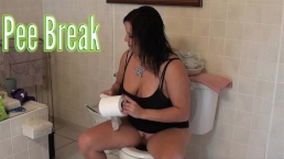 Toilet Pee Break - ALHANA WINTER - Love Pissing for You Pervs