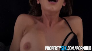 PropertySex - Handyman fucks insanely hot real estate agent Compilation grandma