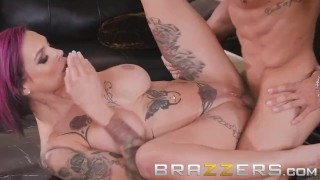 Brazzers - Stepmom Anna Bell Peaks loves games and cock Squirting monster