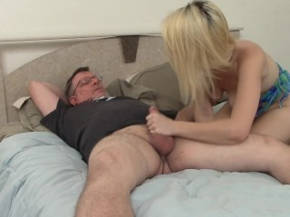 Blonde Gets Caught Masturbating