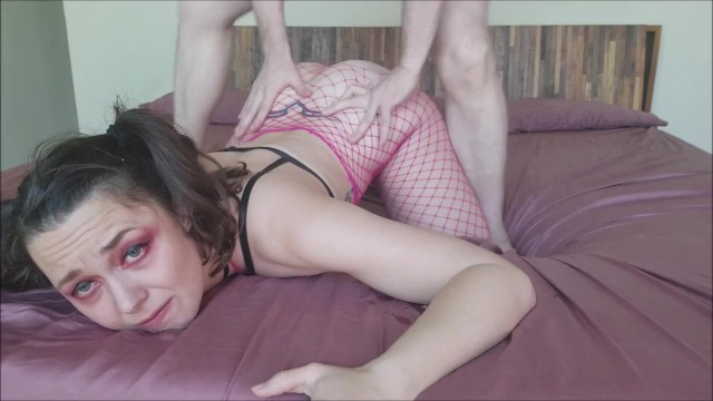 Pink Painal Anal Fishnets | Prone Bone PAWG Teen Deep Throat Slut