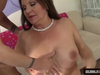 Older Tart Laylani Wood Blows a Guy and Fucks Him Silly