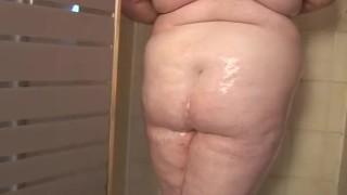 In ssbbw the up shower oils redhead kink young