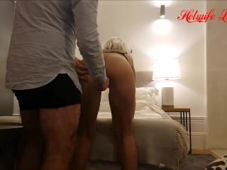 Hot wife fucked deep and hard by huge dildo