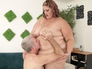 Mature Bbw Lady With Really Huge Tits Fucked