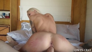 Emma Hix Perfect Teen Pussy Cumming on Thick Cock Doggy couple