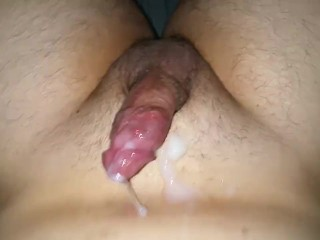 Cum lube jerk off session