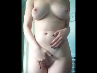 Cutie stripping and playing with herself