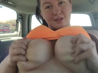 Bbw Whore Masturbating In My Car With Savannah Wild