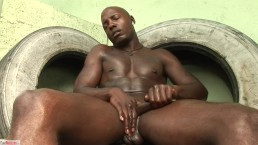 Construction worker Stroking His Dick 03-258