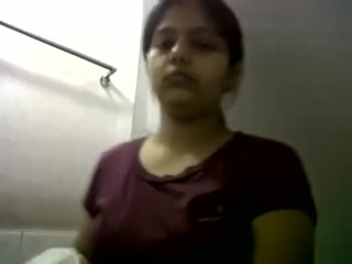 Indian Girl Shows Her Big Tits And Gets Naked.