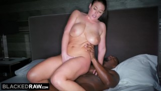BLACKEDRAW Black stud takes Angela White in her hotel room Cock huge