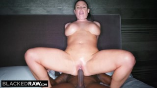 BLACKEDRAW Black stud takes Angela White in her hotel room Facial trans500