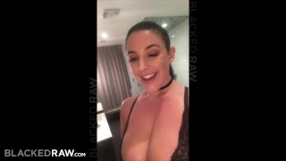 BLACKEDRAW Black stud takes Angela White in her hotel room Brunette style