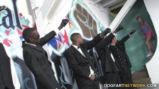 Preview 5 of Aiden Aspen Interracial Gangbang
