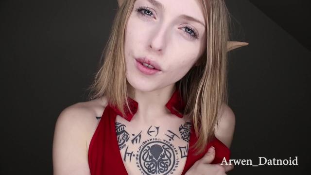 海外美女がエルフコスプレで乳首いじりながら射精カウントダウンしてくれるオナサポ動画  Arwen Datnoid