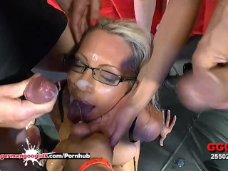Busty Mature Emma Starr Cum Hungry in Germany - German Goo Girls